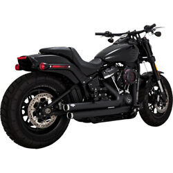 Vance And Hines Big Shots Staggered Exhaust - Black   47941