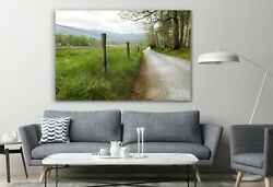 Country Road Cades Cove Canvas Abstract Canvas Decor Art Print Room Painting
