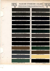 1935 1936 Packard 35 36 Paint Chips 3536 Sherwin Williams 26pc 1 Pg