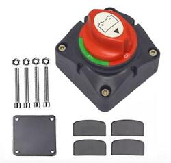 1x Battery Switch Selector Disconnect 12v Current 300a For Cars Ships Appliances