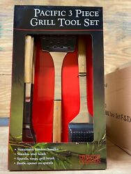 Pacific 3 Piece Premium Bbq Tool Set For Grilling