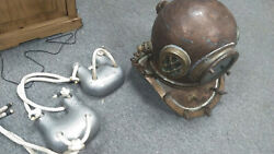 Antique Korean Diving Helmet And New Chest Weights