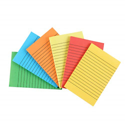 Sticky Notes Colorful Lined Post Memos 4quot; x 6quot; Removable Self Sticky Notes Pad