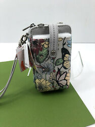 Sakroots Artist Smartphone Wristlet Crossbody Wallet Phone In Bloom Blush NWT $32.95