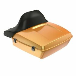 Wrap-around Backrest Hard Candy Gold Flake Chopped Tour Pack For 97-20 Harley