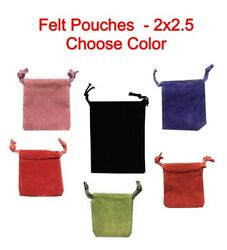 25 Soft Felt Coin Capsule Pouches 2x2.5 Storage Bag Tarnish Protection Gift New
