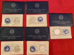 1 1972-s Eisenhower Uncirculated 40 Silver Dollar Coins Blue Ike -5 Available