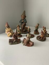 Tom Clark Vintage Gnomes Figurine Statues {lot Of 9} 1980's Retired