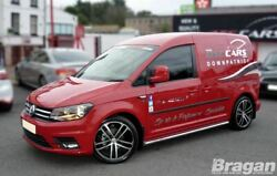 Side Bars For Volkswagen Caddy Maxi Lwb 2015+ Polished Stainless Steel Skirts
