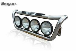 Grill Bar + Spot + Step Pads + Side Leds For Volvo Fm Series 2and3 Stainless Steel