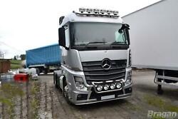 Grill Bar + Round Spot Lamps + Side Leds For Mercedes Actros Mp4 Stainless Steel