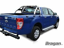Roll Bar For Ford Ranger 2012 - 2016 Sport Polished Top Stainless Steel Bar 4x4