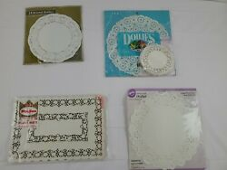 Vintage To New Paper Doilies And Placemats Mixed Lot Of 20+