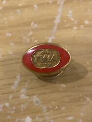 Vintage Twa Airline 6 Month Probation Screw Back Red Outline Tie Tack Lapel Pin