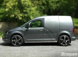 Side Bars + Amber Leds For Volkswagen Caddy Maxi 2015+ Polished Stainless Steel