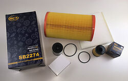 Oil Filter + Air Filters+interior Filter+fuel For Jumper Bus 2.2 Hdi