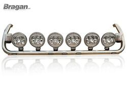 Roof Bar + Leds + Spot Lamps + Clear Beacons For Scania P G R 6 2009+ Topline