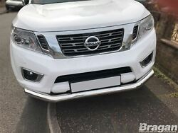 Front Spoiler Bar For Nissan Navara Np300 2016+ Stainless City Nudge Chin Bumper