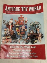 Antique Toy World Magazine Nov. 2002 Planes Trucks Cars Tin Willy's 152 Pages