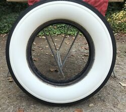 1920's - 1930' Car Tire, Lester 7.00 X 18, White Wall, 6 Ply Rated Classic Used