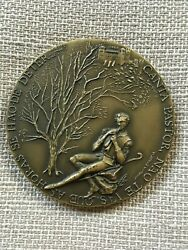 Beautiful Antique And Rare Bronze Medal Of Lions Clubs International 1987