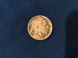 1917 D Buffalo Indian Head Nickel. Scarce Collector Coin. Early Date.