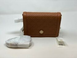 Tory Burch Bryant Quilted Leather Crossbody Style:34801 Luggage Brown $169.99