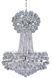 Crystal Chandelier Sirius Silver Foyer Dining Living Room Kitchen 15 Light 36