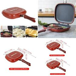 32cm/28cm Frying Pan Non-stick Double-sided Barbecue Cooking Tool Stable Durable