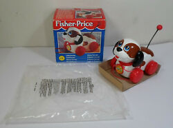 Fisher Price Vtg 1996 72253 Little Snoopy Pull Toy Unused European Boxed