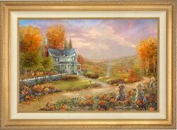 Thomas Kinkade Studios Autumn At Apple Hill 28 X 42 G/p Framed