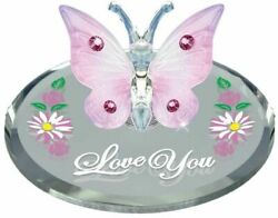 Love You Butterfly Glass Figurine