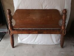 Antique Rope Bed From 1800's, Full Size. Modified To Use With Mattress.