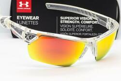 NEW UNDER ARMOUR IGNITER 2.0 SUNGLASSES Crystal Clear frame Orange Mirror lens