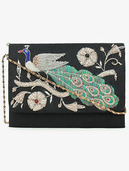 SPICE ART Dupion Silk Stylish Party Clutches Bag Embroidered For Women $33.29