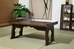 Coffee Table Wood Tray Folding Leg Vintage Antique Japanese Style Home Furniture