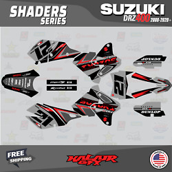 Graphics Decal Kit For Suzuki Drz400sm All Years Drz 400 Sm S E - Shaders Red