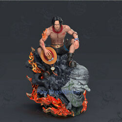 1/4 Scale Y.p Studios One Piece Portgas D. Ace Statue Painted Figurine In Stock