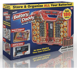 Battery Daddy 180 Battery Organizer and Storage Case with Tester
