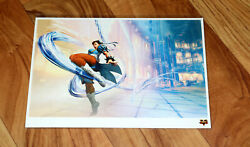 Street Fighter V 5 Rare Artcard Art Card Lithograph Playstation Ps4 Collectible