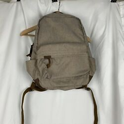 Timbuk2 Backpack Canvas Leather Brown NWT Comfort $38.99