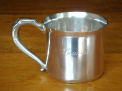 Antique Webster Company Sterling Silver Baby Cup With Andldquolaurieandrdquo Monogram
