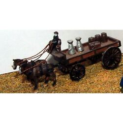 Delivery Trolley - 2 Horse Unpainted Kit N Scale 1148 Langley E15