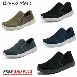Bruno Marc Mens Casual Shoes Suede Leather Slip on Walking Shoes Fashion Sneaker $18.99