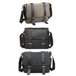 Casual Canvas Satchel Messenger Bag Crossbody Bags for Men Traveling Camping $25.48