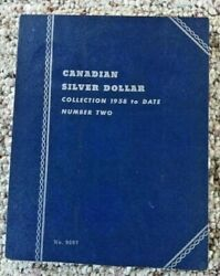 Canadian Silver Dollar Coin Folder Collection 1958-date Number Twono.9087