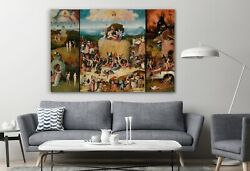 The Haywain Triptych Hieronymus Bosch Classic Canvas Art Print Room Painting