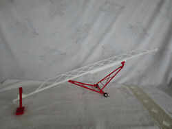 Midwest 1/64 Red And White Swing Boot Grain Auger 115' Farm Toy Implement L@@k