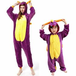 Animal Pajamas Dragon Cosplay Pyjama Adult Kids Costumes Robe Onesi1 Jumpsuit