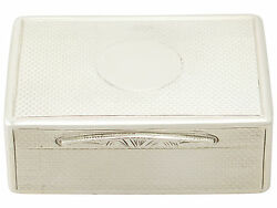 Antique Victorian Sterling Silver Table Snuff Box By Frederick Mason
